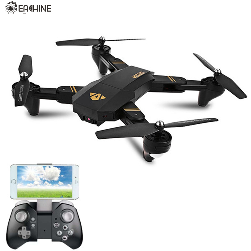Eachine VISUO XS809HW WIFI FPV With Wide Angle HD Camera High Hold Mode Foldable Arm RC Quadcopter RTF RC Helicopter Toys jjrc h12wh wifi fpv with 2mp camera headless mode air press altitude hold rc quadcopter rtf 2 4ghz