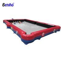 S395 BENAO Бесплатная доставка надувные снукер футбол, инфляции таблицы теннисный корт, надувные Настольный теннис для продажи