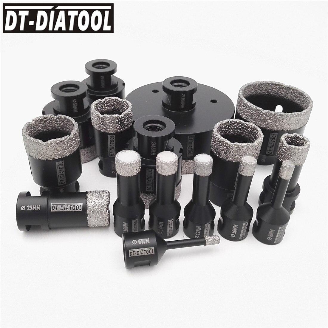 DT DIATOOL Dry font b Vacuum b font Brazed diamond drilling core bits Ceramic tile Hole