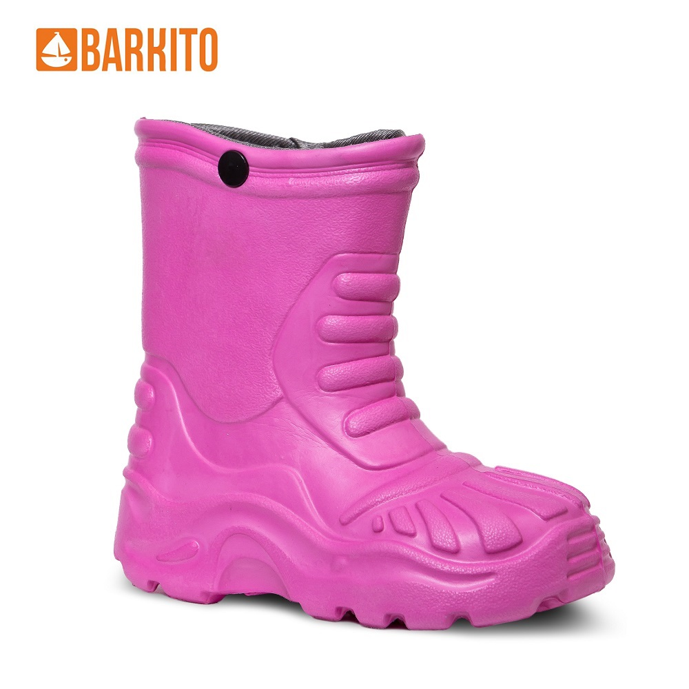 Boots Barkito 340161 children shoes Pink Spring/Autumn 23 Rubber Girls reima boots 7634609 for boys and girls spring autumn boy girl children shoes