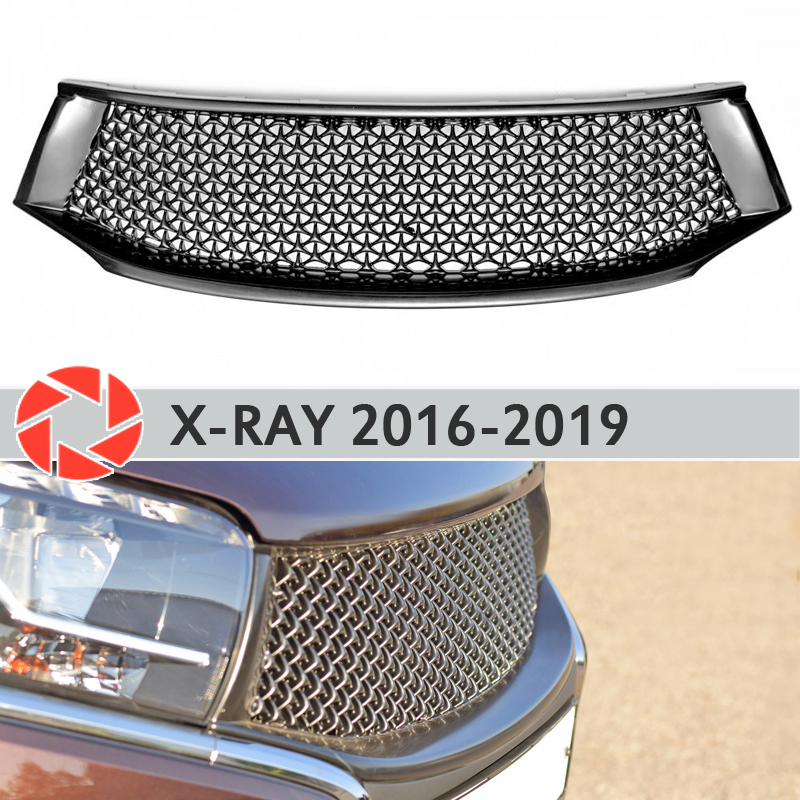 Radiator Grille for Lada X-Ray 2016-2019 plastic ABS accessories protection car styling front decoration tuning radiator grille case for honda civic 4d 2006 2008 2010 abs plastic tuning decor design sports styles car styling car accessories