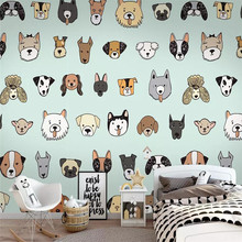 Cute animal children's room bedroom wall professional production mural factory wholesale wallpaper mural poster photo wall