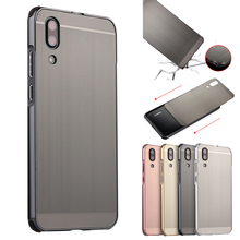 For Huawei P20 P 20 Case Brushed Metal Hybrid Aluminum Frame Bumper Hard PC Acrylic Back Cover Lite Capa