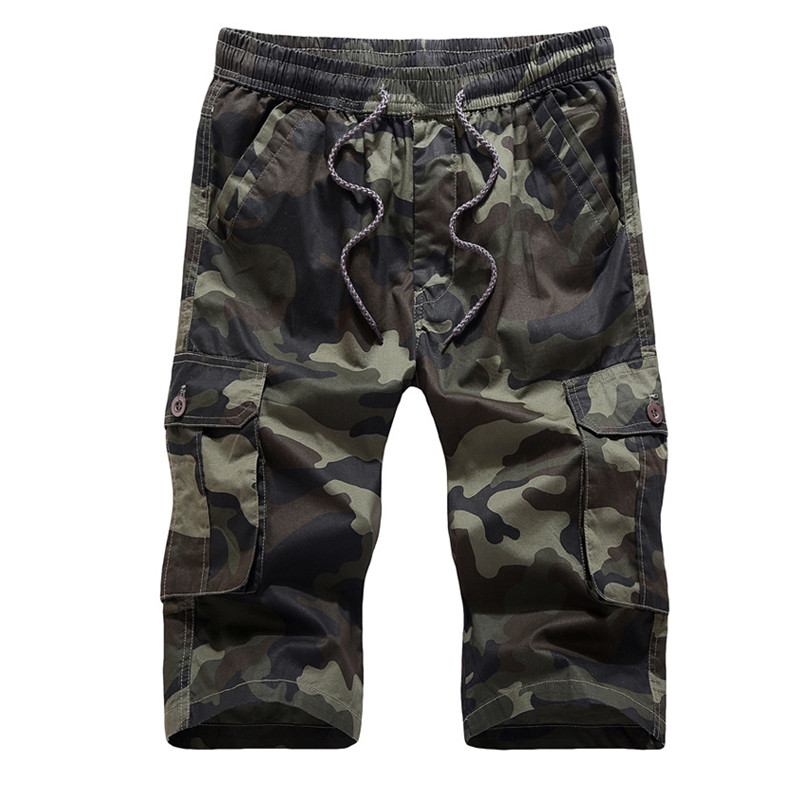 Camouflage Camo Cargo Shorts Men 2018 New Mens Casual Shorts Male Loose Work Shorts Man Military Short Pants Plus Size Large 4XL