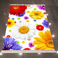 Else Green Blue Red Yellow Big Daisy Flowers Floral 3d Print Microfiber Anti Slip Back Washable Decorative Kilim Area Rug Carpet