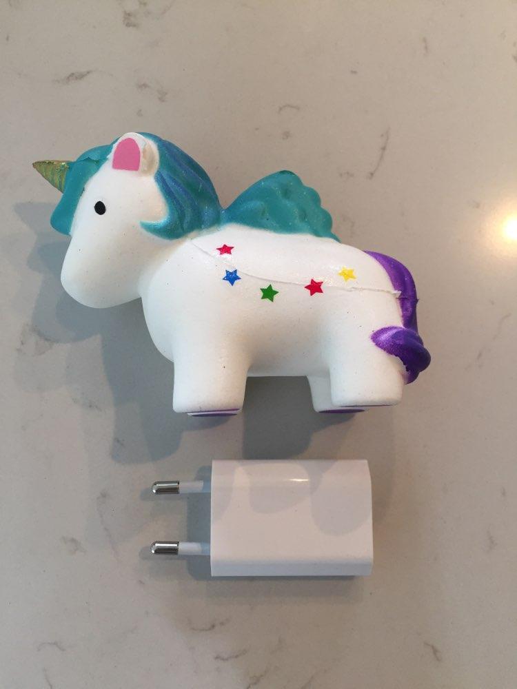 Kawaii Unicorn Donut Squishy Toy photo review