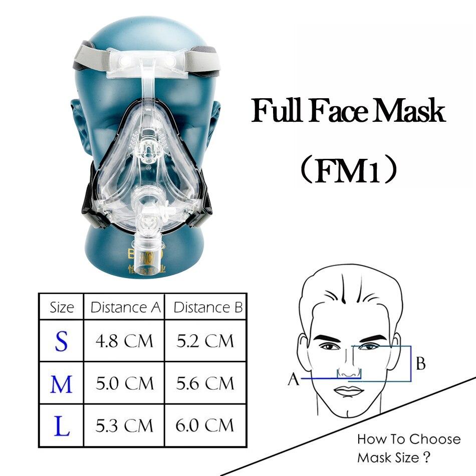 Win Healthy BMC FM1 маска для сна для апноэ для сна CPAP/APAP Машина три размера S/M/L можно выбрать с повязкой на голову