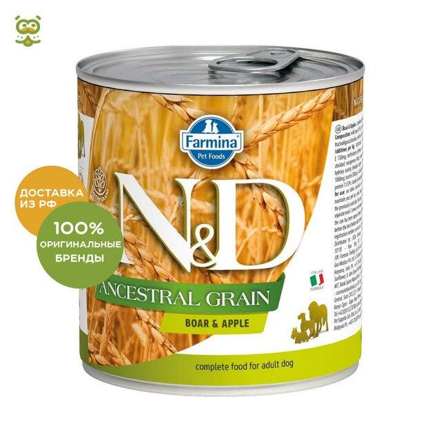 N&D Dog Ancestral Grain Adult консервы для собак всех пород, Кабан и яблоко, 285 гр.