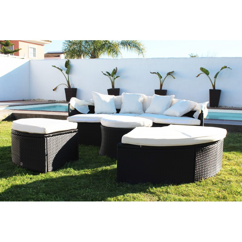 KieferGarden. Conjunto Terraza VARADERO.  Sofá Exterior. Sofas Modulares. 4 Modulos Exteriores. Muebles Exterior. Muebles Jardin
