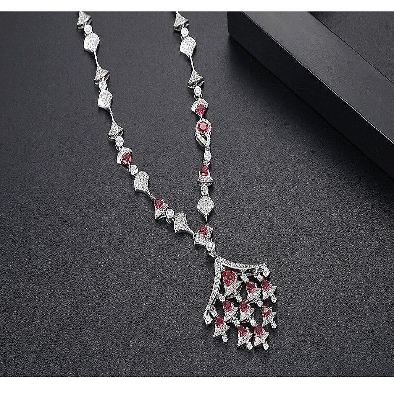 AAA cubique zircone pierre pavé réglage secteur pendentif collier pour femmes accessoires Style saoudien, Style dubaï moyen-orient