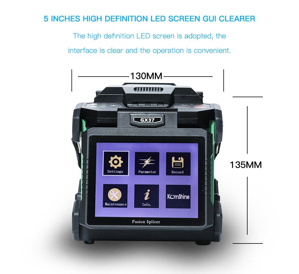 Komshine последняя модель GX37 слияние оптических волокон сварочный аппарат soudeuse de fiber optique с дополнительными электродами-in Оптоволоконное оборудование from Мобильные телефоны и телекоммуникации