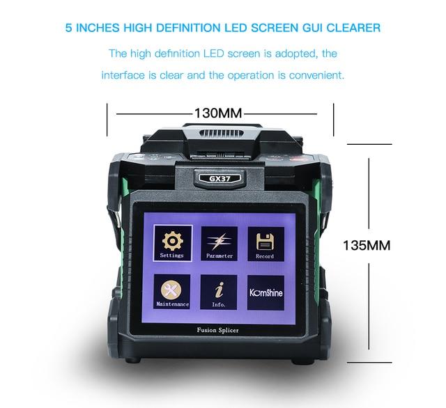 Komshine Latest Model GX37 Optical Fiber Fusion Splicer welder machine soudeuse de fibre optique with extra electrodes