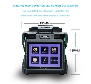 Image 1 - Komshine Nieuwste Model GX37 Optical Fiber Fusion Splicer lasser machine soudeuse de fiber optique met extra elektroden