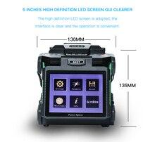 Komshine último modelo GX37 empalmador de fusión de fibra óptica máquina soldadora soudeuse de fibra óptica con electrodos adicionales