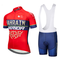 2018 TEAM BAHRAIN Cycling Jersey Gel Pad Bike Shorts Suit Ropa Ciclismo Mens Summer Quick Dry