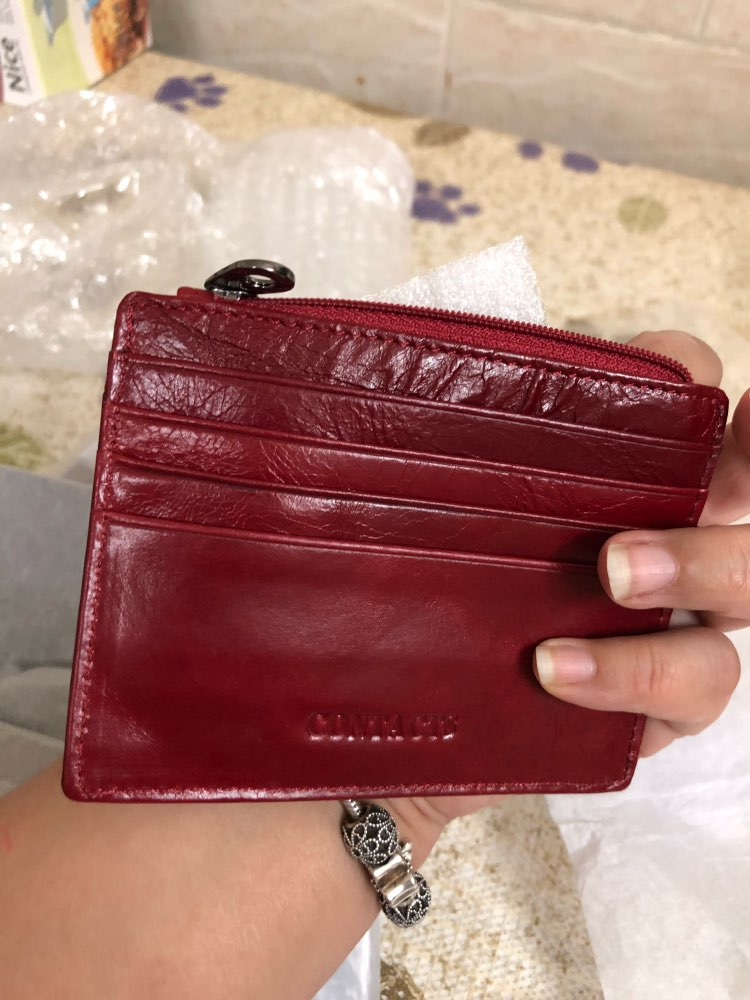 CONTACT'S Genuine Leather Men Money Clips Fashion Pocket Clamp For Money Holder Brand Design Money Clip Wallet With Card ID Case photo review