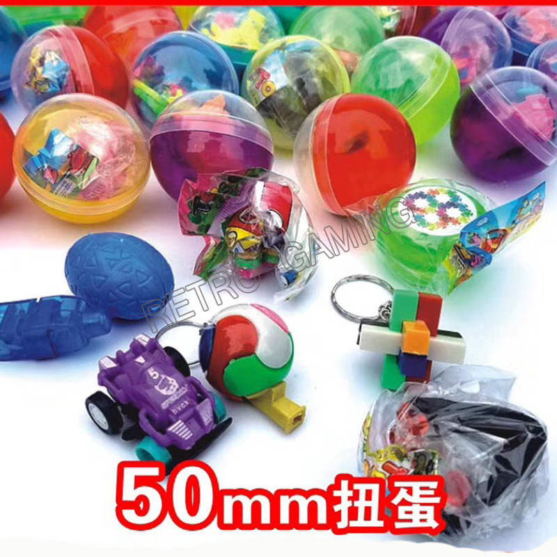 100pcs/bag 32mm / 45mm / 50mm Capsule Ball Mixed Style Prize Twisted Egg With Toy For Arcade Coin-operated Toy Vending Machine