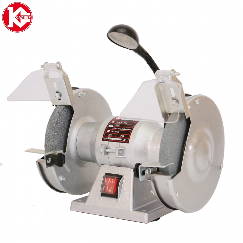 Electric bench grinder Kalibr TE-150/300L kalibr te 125 250l bench multi function electric grinder bench polishing machine small grinding wheel wiht lamp