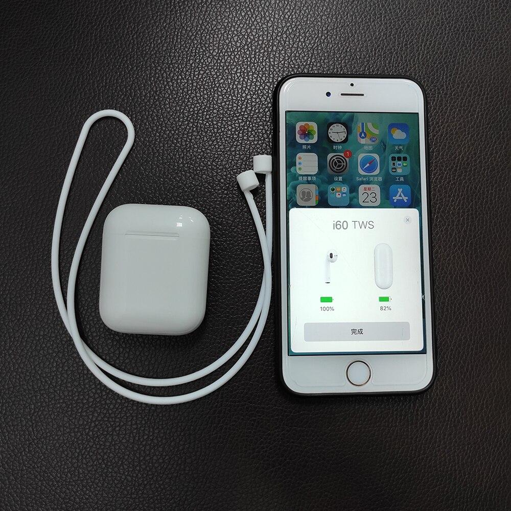 i60TWS Pop up 1 1 Wireless Charging Bluetooth 5 0 Earphone 6D Sound Bass Earphones Earbuds