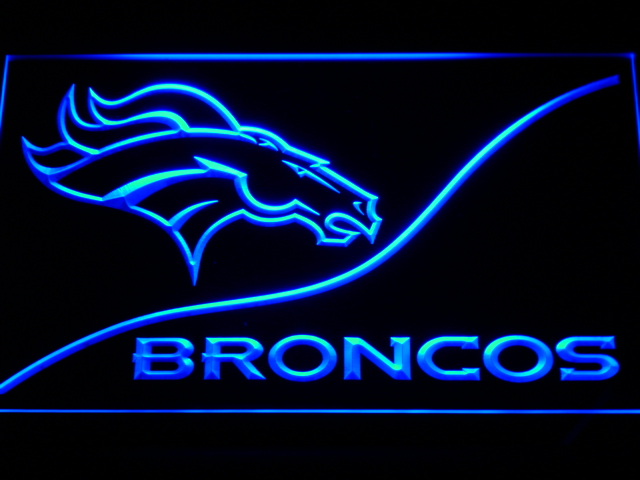 b502 Denver Broncos LED Neon Sign with On/Off Switch 7 Colors 4 Sizes to choose