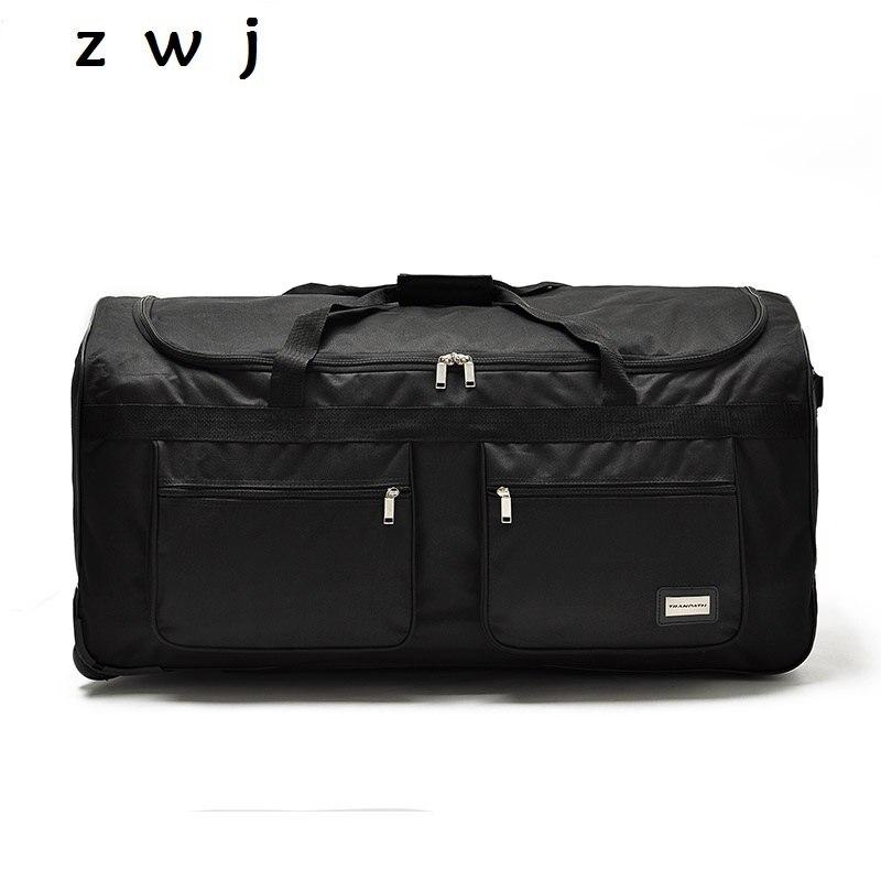 32 40 inch ultralight nylon super large capacity trolley luggage travel bag soft canvas male luggage
