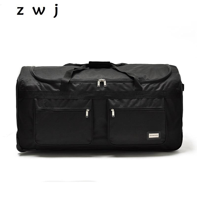32 40 zoll ultraleicht nylon super große kapazität trolley gepäck reisetasche weichen leinwand männlichen gepäck überprüft tasche-in Reisetaschen aus Gepäck & Taschen bei  Gruppe 1