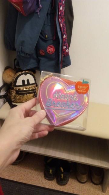 Bentoy Korean Chic Women Heart Hologram Wallet Laser PU Small Coin Purse Zipper Clutch Money Purse Bank Card Holders Bag Pouch photo review