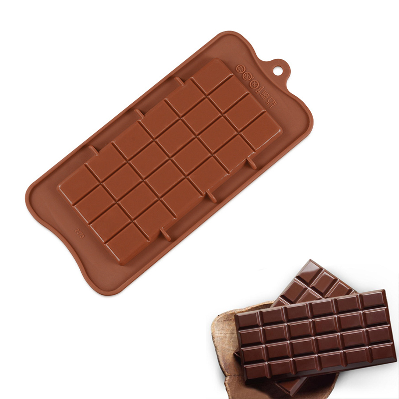 1pcs 24 Cavity Square Silicone Chocolate Molds DIY Silicone Mold Bakeware Stable Cake Molds Jelly Ice Mold Bakeware Baking Tool