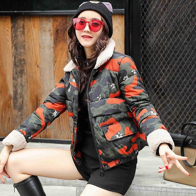 Short Jacket   parka   2018 women winter hooded warm coat cotton padded jacket female