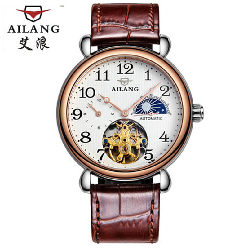 Luxury Brand Timepieces Trade AILANG mentop retro Wind Waterproof Watches Automatic Mechanical Mens Watch Bright