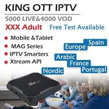 GOTiT Europe X96 Max Android 8.1 TV Box Amlogic S905X2 Dual-WIFI+6000 live KING IPTV Spain Portugal Germany Adult Set up Box