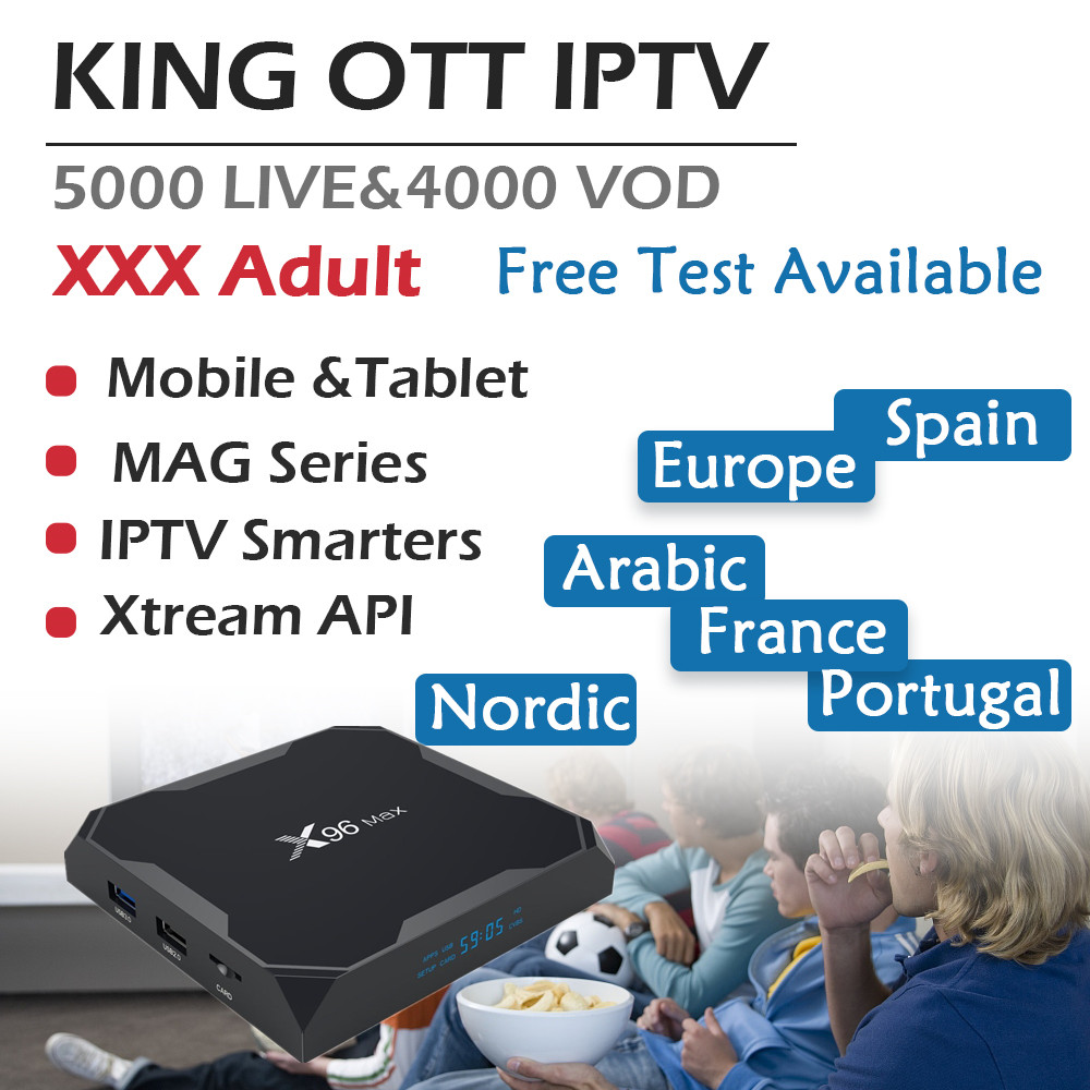 US $85 0  GOTiT Europe X96 Max Android 8 1 TV Box Amlogic S905X2 Dual WIFI  +6000 live KING IPTV Spain Portugal Germany Adult Set up Box-in Set-top