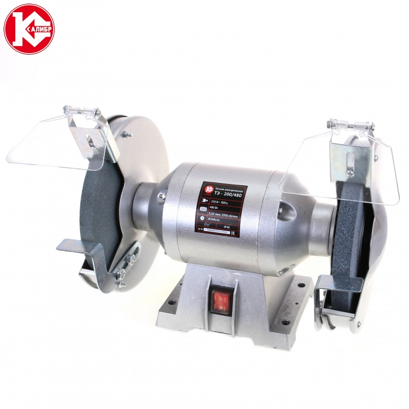 Bench Grinder Kalibr TE-200/480 kalibr te 125 250l bench multi function electric grinder bench polishing machine small grinding wheel wiht lamp