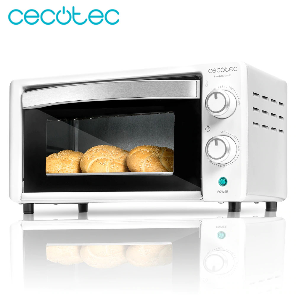 Cecotec Bake&Toast 490 Electric Oven Toaster Stainless Steel with 10 Liters Capacity and Double Glass Timer Heat Efficient|Ovens| |  - title=
