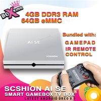 AI SE игры Box smart tv box 4 ГБ 64 ГБ Android 8,1 RK3399 ИК пульт дистанционного управления геймпад 5 г 4 К USB 3,0 xiaomi tv mi коробка AI one (p20)