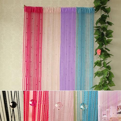 1x2m String Curtain Beads Panel Fringe Divider Drape Room