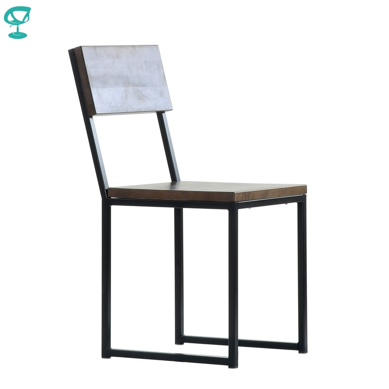 N307BlBrWood Barneo N-307 Black Metal Wood Brown Seat Kitchen Interior Stool Chair Kitchen Furniture Free Shipping In Russia