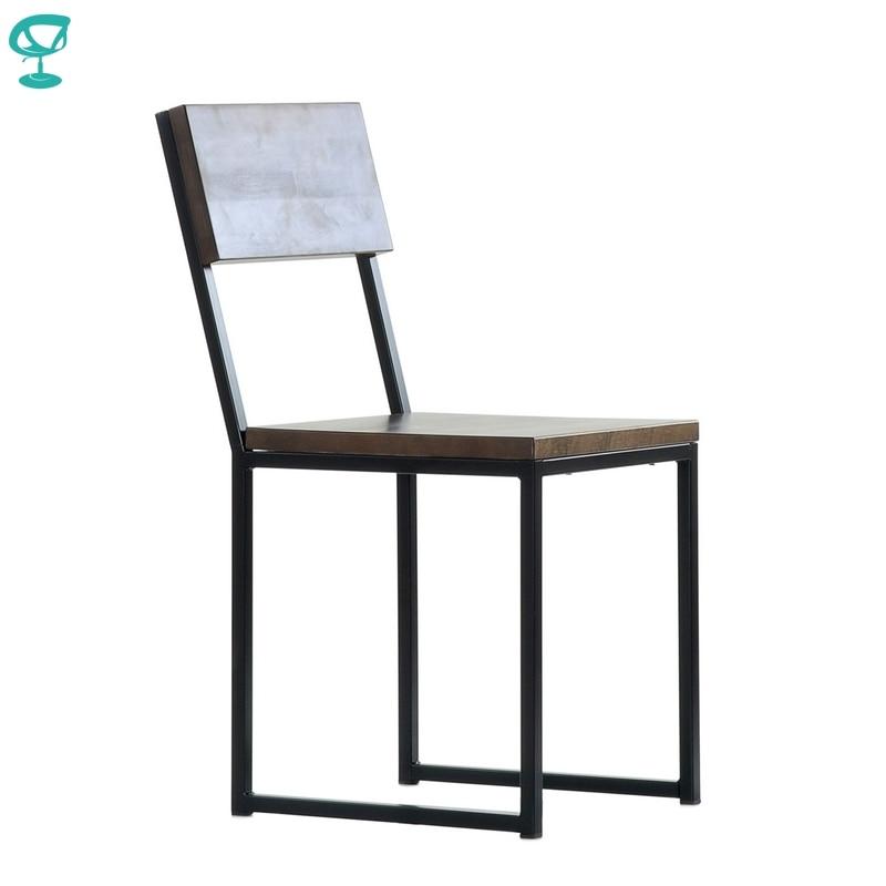 N307BlBrWood Barneo N-307 Black Metal Wood Brown Seat Kitchen Interior Stool Chair Kitchen Furniture Free Shipping In Russia