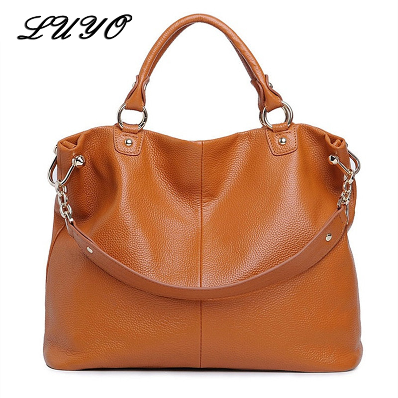 Real Genuine Leather Bags For Women Ladies Designer Handbags High Quality Female Crossbody Bags Big Shoulder Casual Tote Bag hongu genuine leather crossbody shoulder bags for women designer handbags high quality small square casual side purse