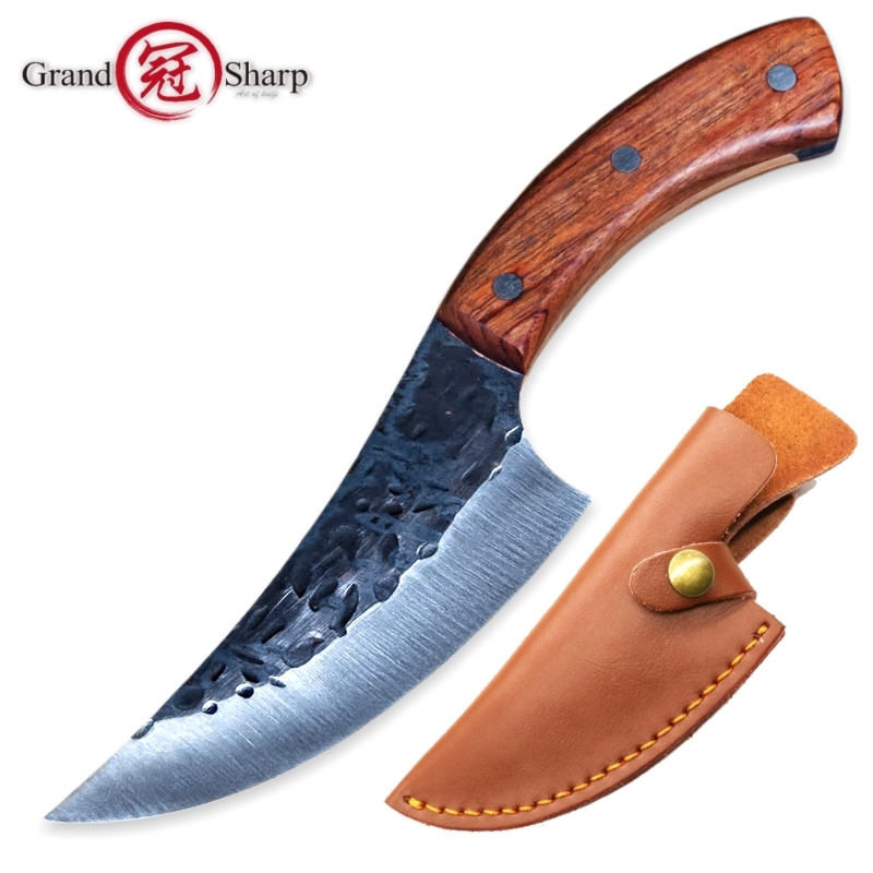 Hunting Knife High carbon Steel Handmade fixed knife 58HRC Wooden handle Camping Tactical Survival EDC Rescue Outdoor Tools NEWHunting Knife High carbon Steel Handmade fixed knife 58HRC Wooden handle Camping Tactical Survival EDC Rescue Outdoor Tools NEW