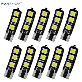 MODERN CAR 10Pcs 6000K White No Error T10 Car Interior Bulbs Light 6smd 194 168 W5w Canbus 5050 Parking Width Light Reverse Lamp