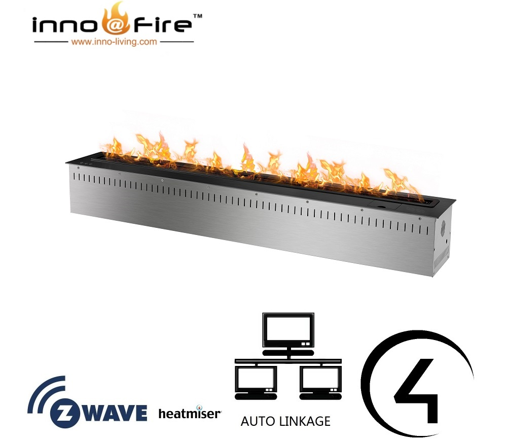 Inno-living 48 Inch Stainless Steel/black Wifi Remote Bio Ethanol Kamin