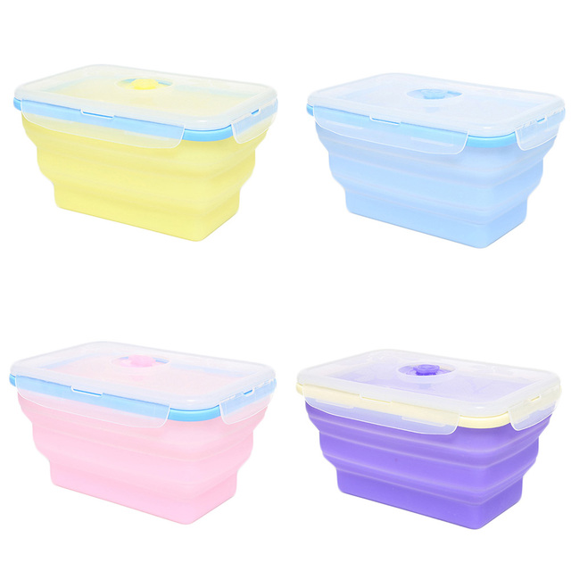 New Microwave Silicone Foldable Bento Box Portable LunchBox BPA free Dinnerware Set 20*13cm  sc 1 st  AliExpress.com & New Microwave Silicone Foldable Bento Box Portable LunchBox BPA free ...