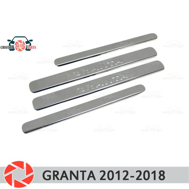 Pour Lada Granta 2012-2018 rebords de porte marchepied panneau protection voiture style décoration intérieur moulage porte panneau timbre