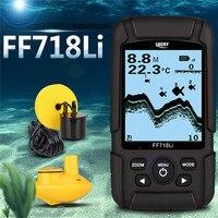 Lucky Protable Waterproof Fish Finder Cable Wireless Interchangeable100m 328ft Depth Detectation Sonar Sensor Fishfinder FF718Li