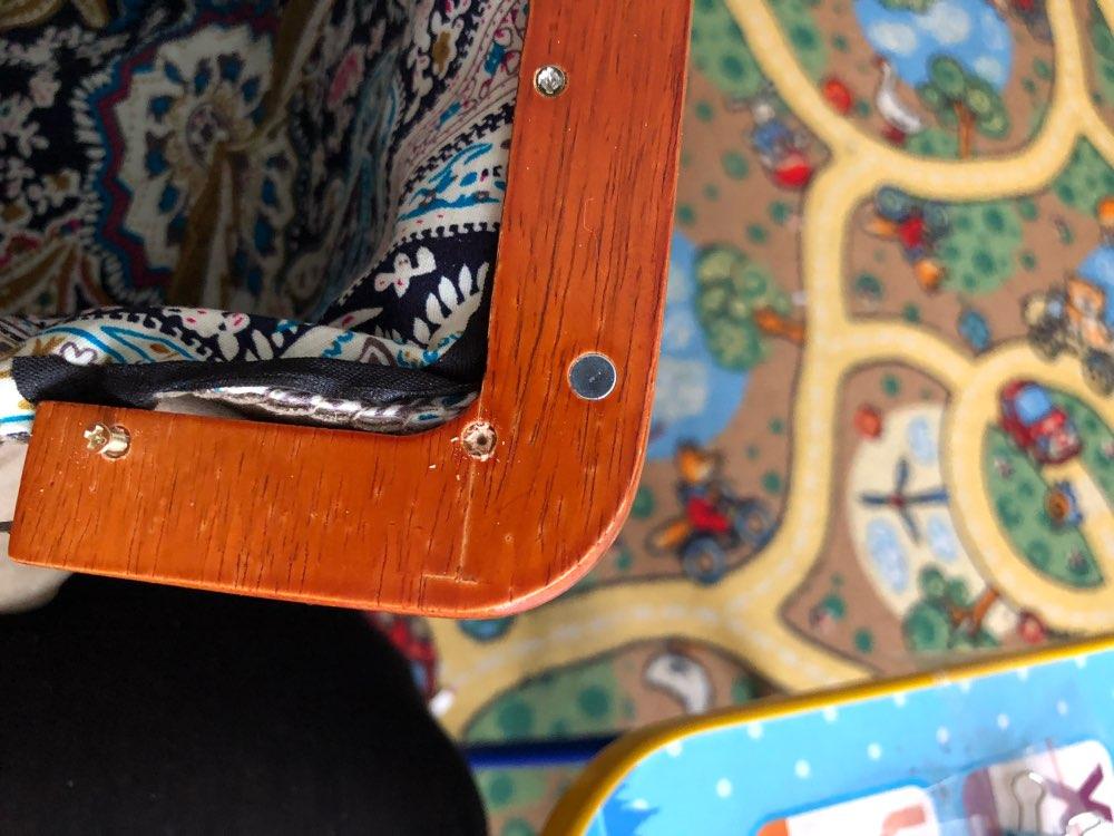 2 Pieces 19.5X8cm Women Purse Bag Wooden frame,Natural Wood Purse Screws Frame Bag Handle DIY Handbag Accessories Hanger Parts photo review