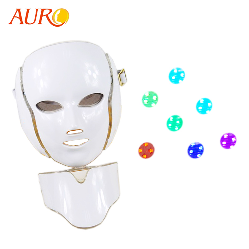 New Technology 2019 Anti-aging PDT Skin Rejuvenation Beauty Machine Led Light Therapy Wrinkle Removal Facial Mask 7 Colors