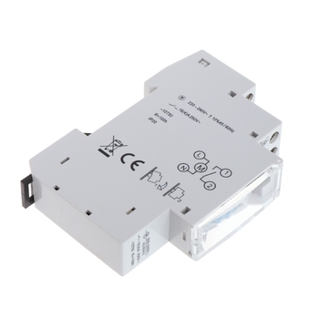 OOTDTY mecánica 24 horas programable carril Din temporizador interruptor relé de 110-240 V 16A