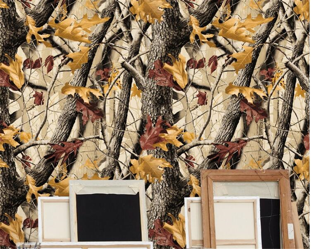 beibehang Southeast Asia style wallpaper bedroom living room hotel KTV guesthouse tree leaves tree papel de parede wallpaper beibehang papel de parede southeast