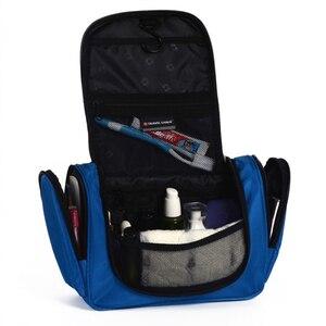 Image 4 - השעיה באיכות גבוהה גברים ונשים קוסמטיקה קוסמטי תיק פוליאסטר עמיד למים איפור תיק נסיעות סוכנות מקלחת אחסון תיק
